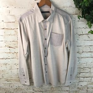 7 Diamonds Color Block Button Down Shirt